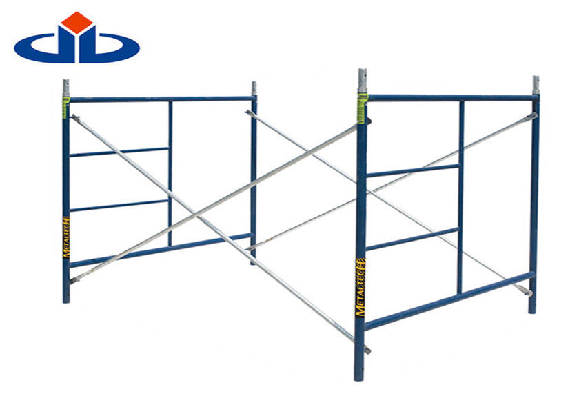 Outdoor Mason Frame Scaffolding Galvanized Construction Ladder Long Life Time