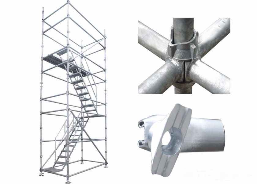Q235 Cuplock Scaffolding System High Loading Capacity For Round Building Construction
